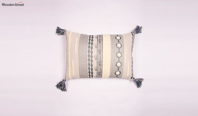Smoked Marble Embroidered Cushion Cover-1