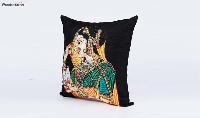 Traditional Pattern Jute Cushion Covers (Set of 5)-2