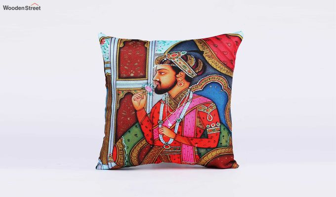 Traditional Pattern Jute Cushion Covers (Set of 5)-3
