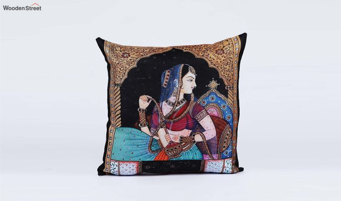 Traditional Pattern Jute Cushion Covers (Set of 5)-5