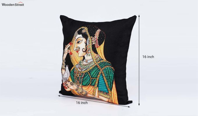 Traditional Pattern Jute Cushion Covers (Set of 5)-7