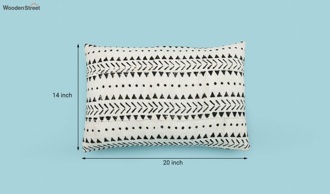 Tribal Peaks Mud Printing Cushion Cover-5