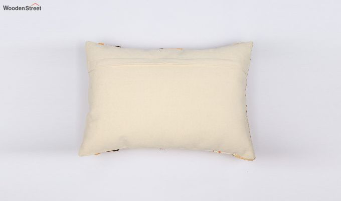 Umber Stripes Embroidered Cushion Cover-2