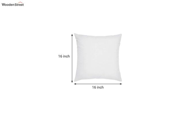 White Synthetic Fill Cushion - 16 x 16 inch-2