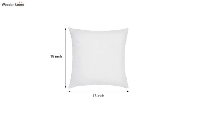 White Synthetic Fill Cushion - 18 x 18 inch-2