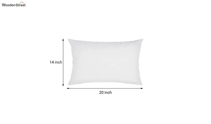 White Synthetic Fill Cushion - 20 x 14 inch-2