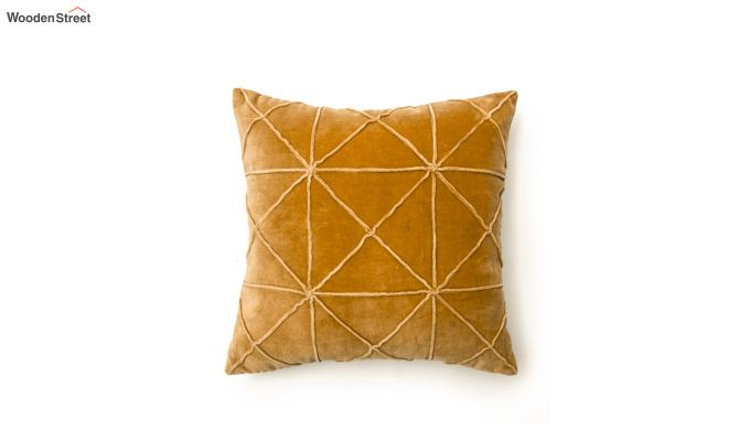 Yellow Cotton Morocco Bold Pattern Cushion Cover-2