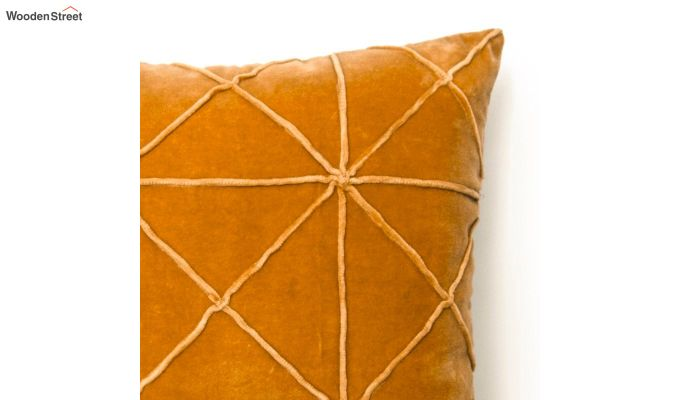 Yellow Cotton Morocco Bold Pattern Cushion Cover-4
