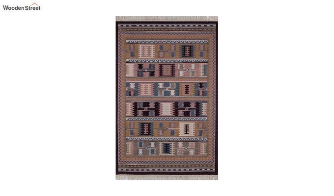 Blue Hand Woven Kilim Wool Floor Mat - 6 x 4 Feet-2