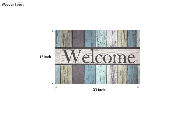 "Blue 3D Printed Nylon Door Mat (23"" x 15"")-5"