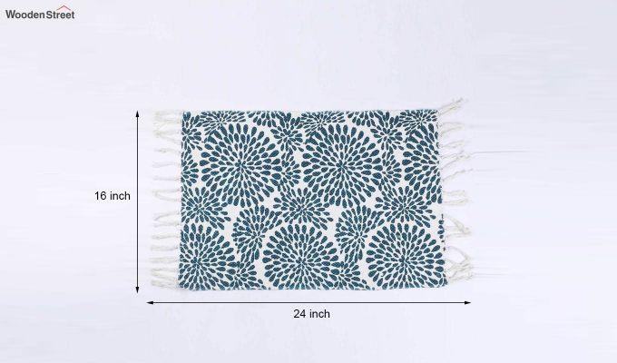 "Blue Anti Skid Cotton Door Mat (24"" x 16"")-5"