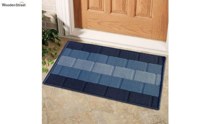 "Blue Anti Skid Nylon Door Mat (23"" x 15"")-1"