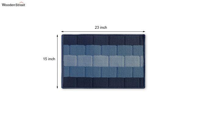 "Blue Anti Skid Nylon Door Mat (23"" x 15"")-3"