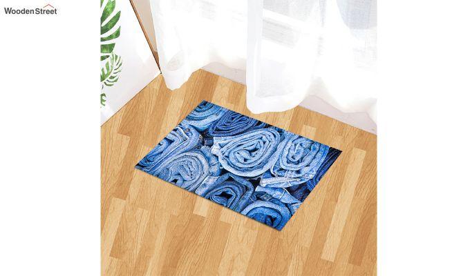 "Blue Nylon 3D Printed Door Mat (23"" x 15"")-1"
