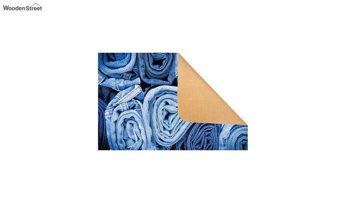 "Blue Nylon 3D Printed Door Mat (23"" x 15"")-4"