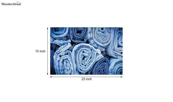 "Blue Nylon 3D Printed Door Mat (23"" x 15"")-5"