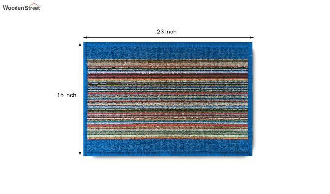 "Blue Nylon Anti Skid Door Mat (23"" x 15"")-8"