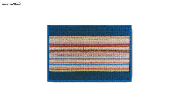 "Blue Nylon Anti Slip Door Mat (23"" x 15"")-8"