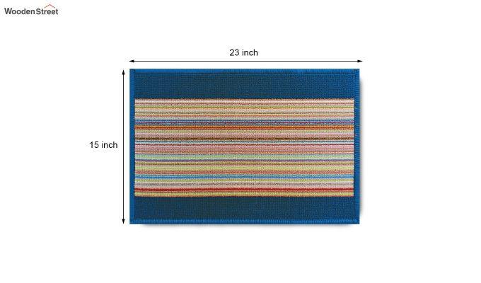 "Blue Nylon Anti Slip Door Mat (23"" x 15"")-9"