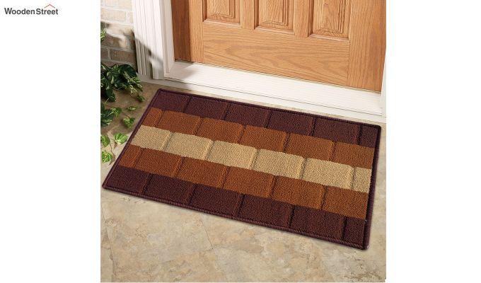 "Brown Nylon Anti Skid Door Mat (23"" x 15"")-1"