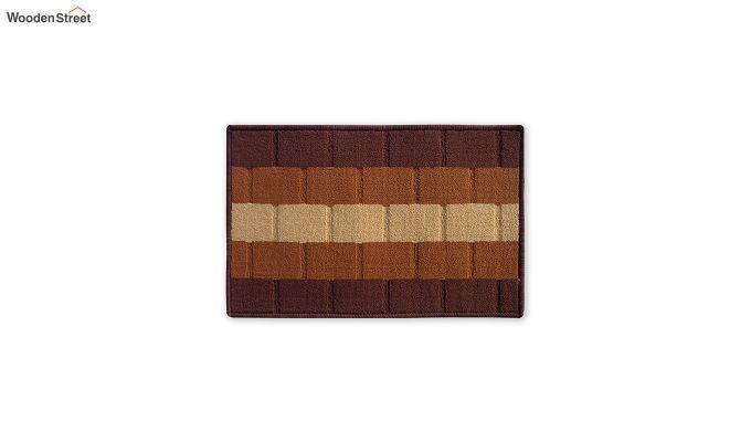 "Brown Nylon Anti Skid Door Mat (23"" x 15"")-2"