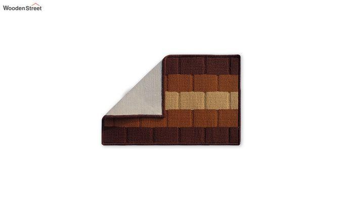 "Brown Nylon Anti Skid Door Mat (23"" x 15"")-3"