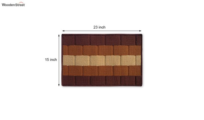 "Brown Nylon Anti Skid Door Mat (23"" x 15"")-4"
