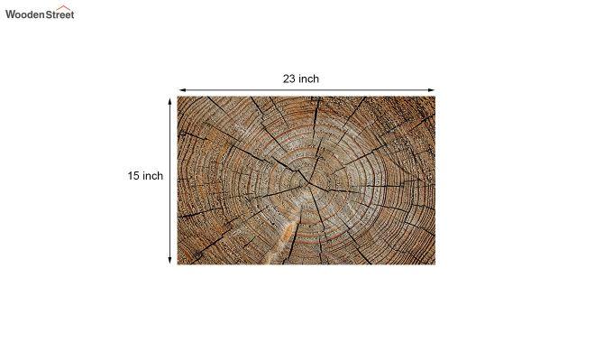 """Brown 3D Printed Anti Skid Door Mat (23"""" x 15"""")-5"""