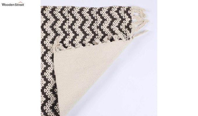 """Brown Anti Skid Cotton Door Mat (24"""" x 16"""")-4"""