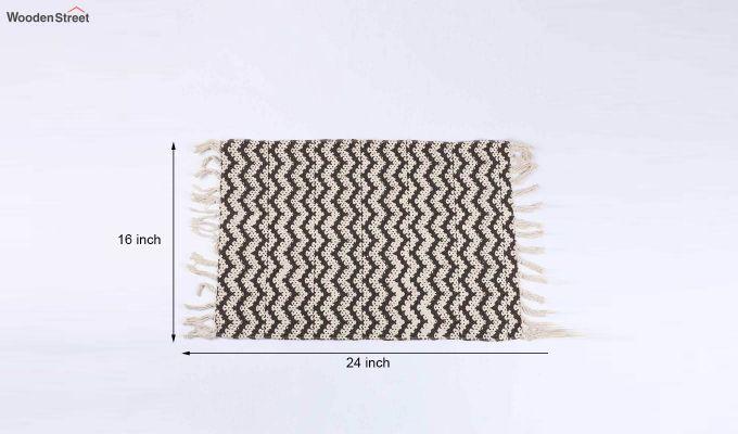 """Brown Anti Skid Cotton Door Mat (24"""" x 16"""")-5"""