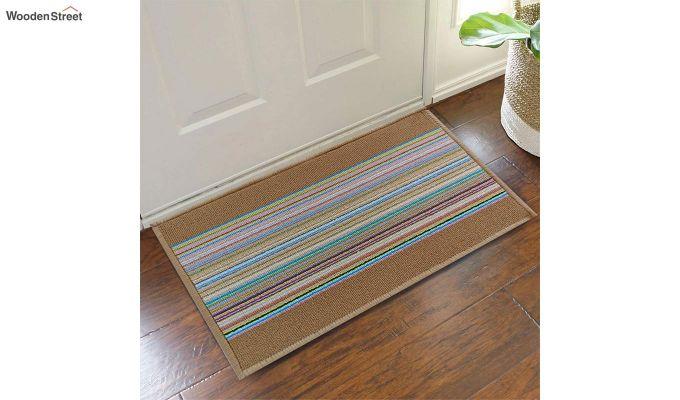 "Brown Anti Slip Nylon Floor Mat (23"" x 15"")-1"