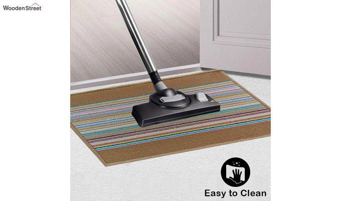 "Brown Anti Slip Nylon Floor Mat (23"" x 15"")-2"