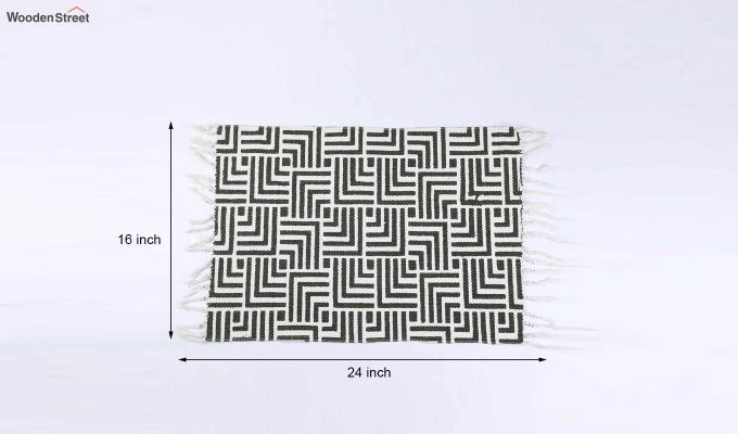 """Brown Cotton Anti Skid Door Mat (24"""" x 16"""")-5"""