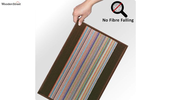 "Brown Nylon Anti Slip Floor Mat (23"" x 15"")-6"