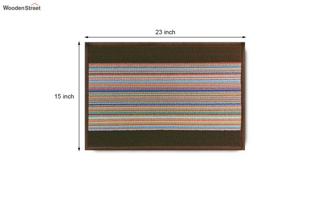 "Brown Nylon Anti Slip Floor Mat (23"" x 15"")-8"