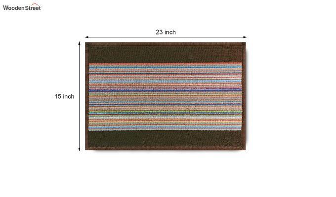 "Brown Nylon Anti Slip Door Mat (23"" x 15"")-8"