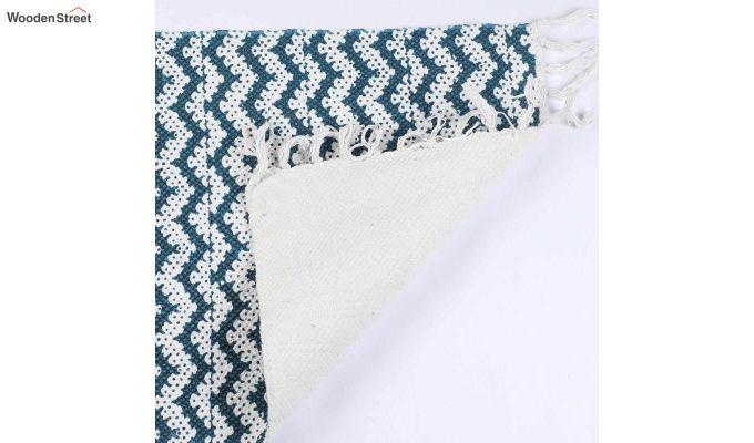 "Cotton Anti Skid Blue Door Mat (24"" x 16"")-4"