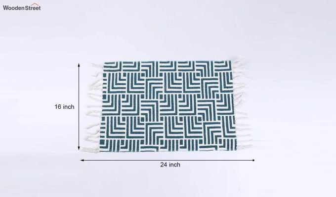 "Cotton Blue Anti Skid Door Mat (24"" x 16"")-5"