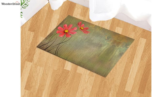 "Green Nylon 3D Printed Floor Mat (23"" x 15"")-1"