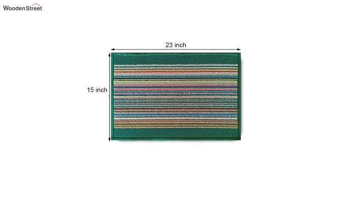 "Green Nylon Anti Skid Door Mat (23"" x 15"")-8"