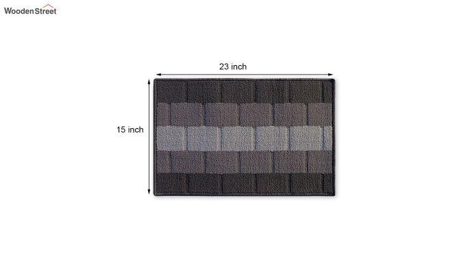 """Grey Nylon Anti Skid Door Mat (23"""" x 15"""")-4"""