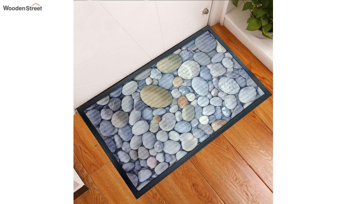 "Grey Rubber Digital Printed Door Mat (23"" x 15"")-1"
