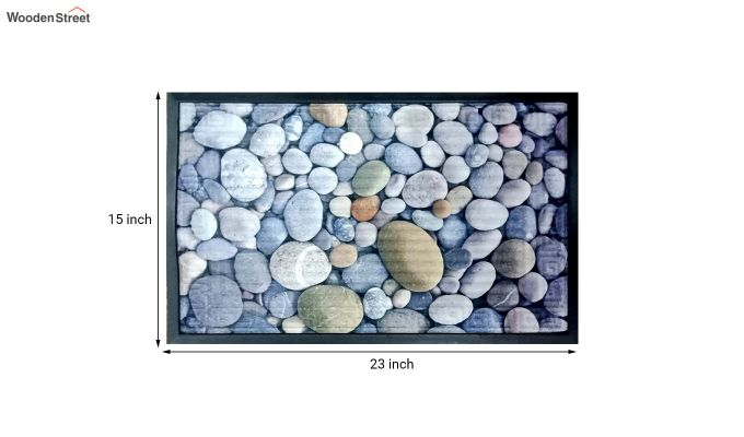 "Grey Rubber Digital Printed Door Mat (23"" x 15"")-3"