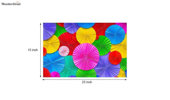 "Multicolour Nylon 3D Printed Door Mat (23"" x 15"")-5"