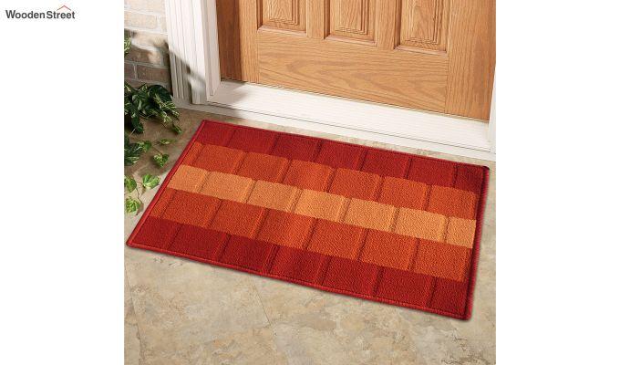 """Orange Nylon Anti Skid Door Mat (23"""" x 15"""")-1"""
