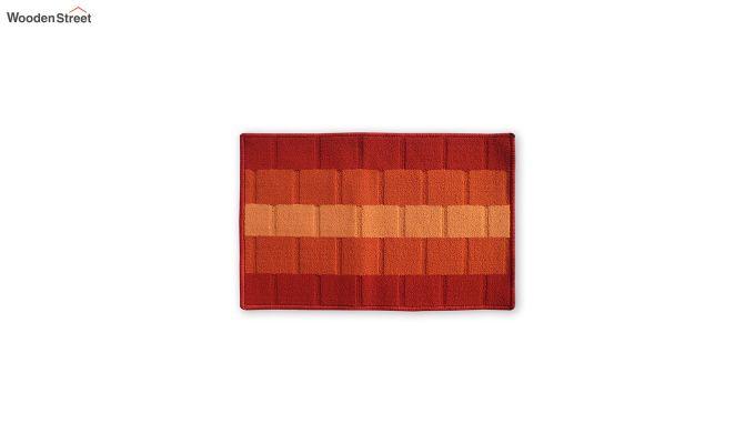 """Orange Nylon Anti Skid Door Mat (23"""" x 15"""")-2"""