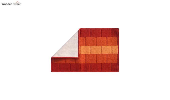 """Orange Nylon Anti Skid Door Mat (23"""" x 15"""")-3"""