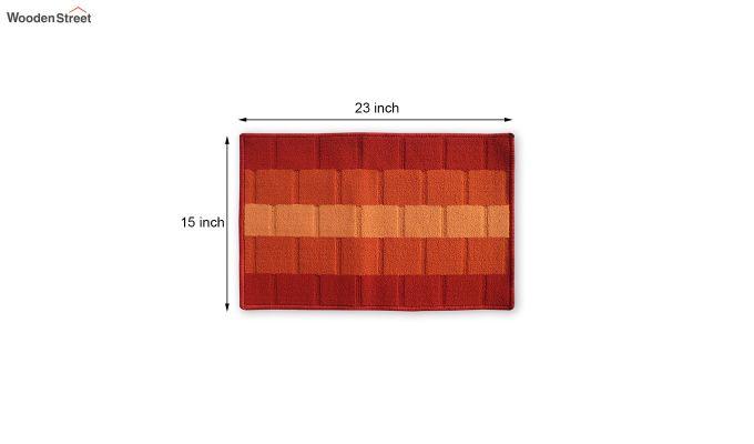 """Orange Nylon Anti Skid Door Mat (23"""" x 15"""")-4"""