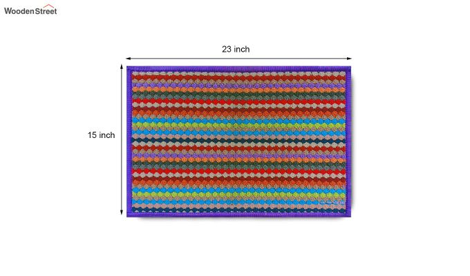 "Purple Anti Skid Nylon Door Mat (23"" x 15"")-6"