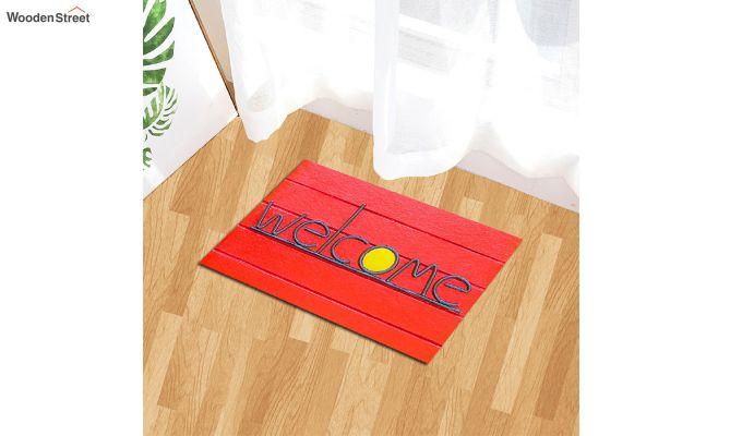 """Red 3D Printed Anti Skid Nylon Door Mat (23"""" x 15"""")-1"""